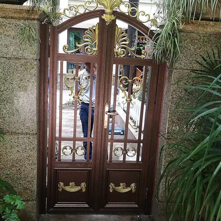南通别墅门铝艺 -铝艺大门型材 -中式铝艺大门