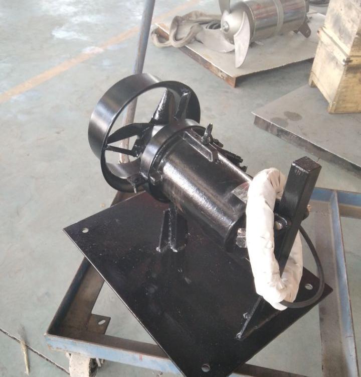 华清便携式潜水搅拌机_ 强推型小功率污水搅拌器