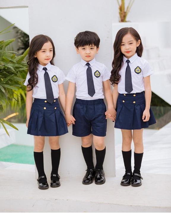 玩酷熊酷派小学生校服套装韩版幼儿园园服夏装儿童班服