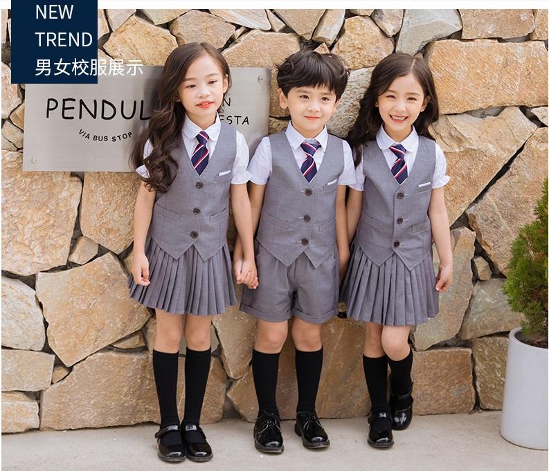 新款中小学生校服套装英伦风幼儿园园服夏装儿童毕业服班服