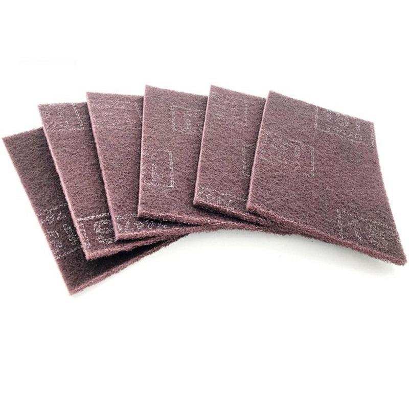 厂家直销7447C工业百洁布 紫色拉丝布 抛光打磨去锈毛刺清洁布