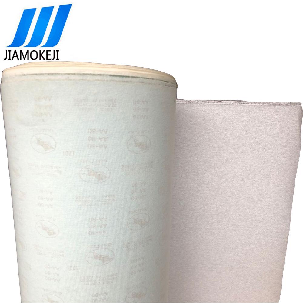 厂家直销白色涂层氧化铝金牛植绒砂纸卷1.38*100米植绒砂纸拉绒片