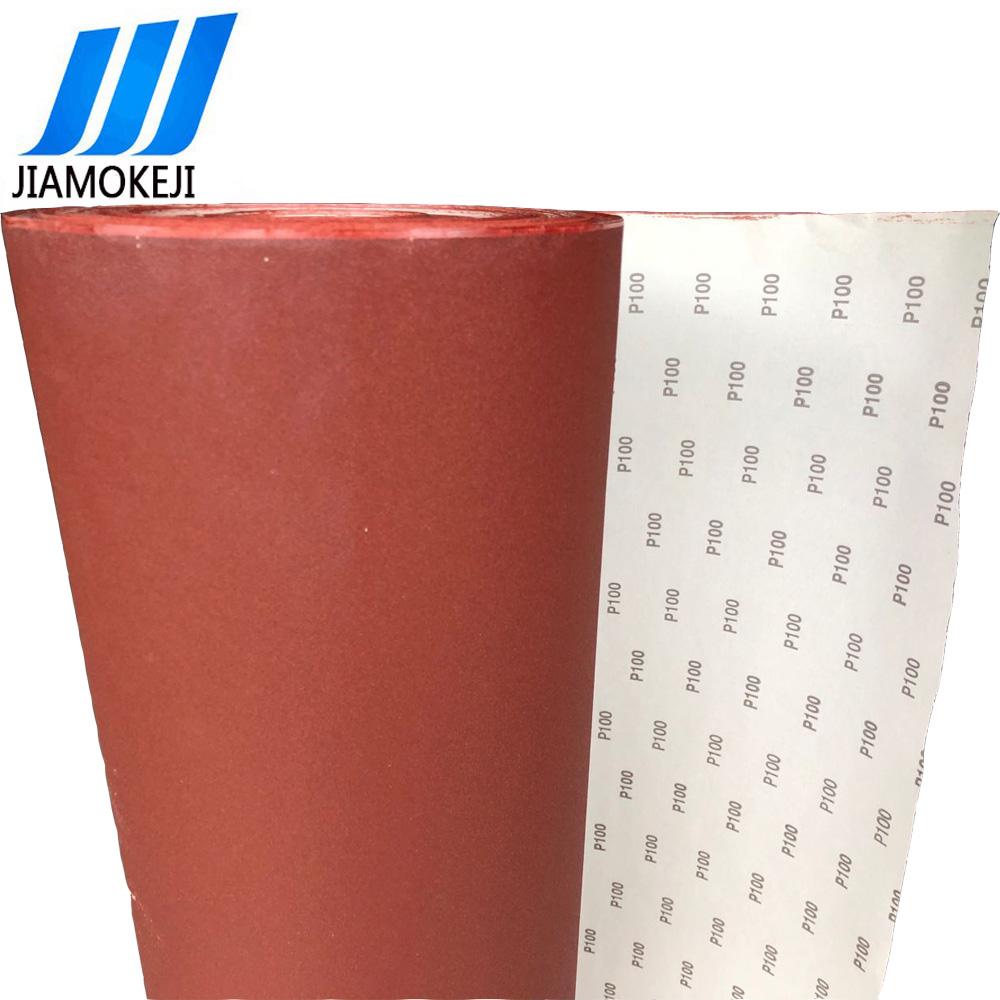 厂家直销红色氧化铝砂纸卷 1.38*100米红砂卷料 拉绒片加工砂纸卷