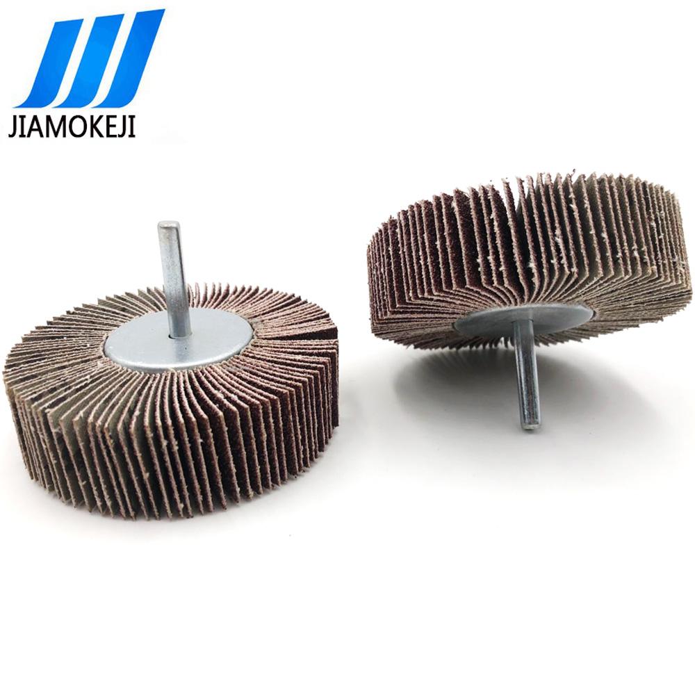 优质砂布带柄页轮 批发带柄砂布叶轮 铁盖带柄砂布磨头90*25*6mm