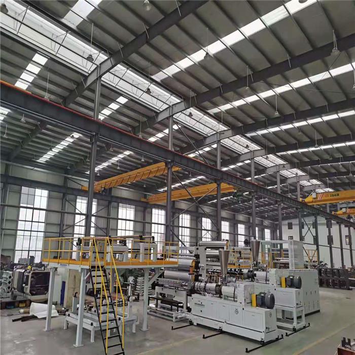 PP片材生产线  HIPS片材生产线  ABS片材生产线  PMMA冰箱板共挤生产线 PS冰箱板共挤生产线