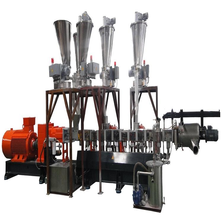 PE双螺杆造粒机 PVC电缆料造粒机 厂家直销 价格优惠  氮化钢 可定制