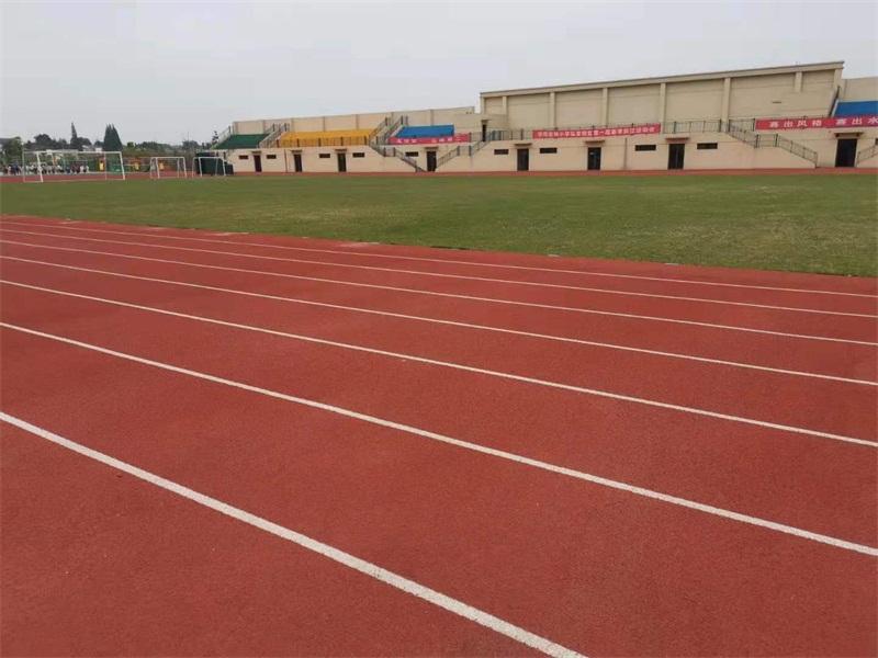 13mm混合型塑胶跑道 句容市城东南小学塑胶跑道施工案例
