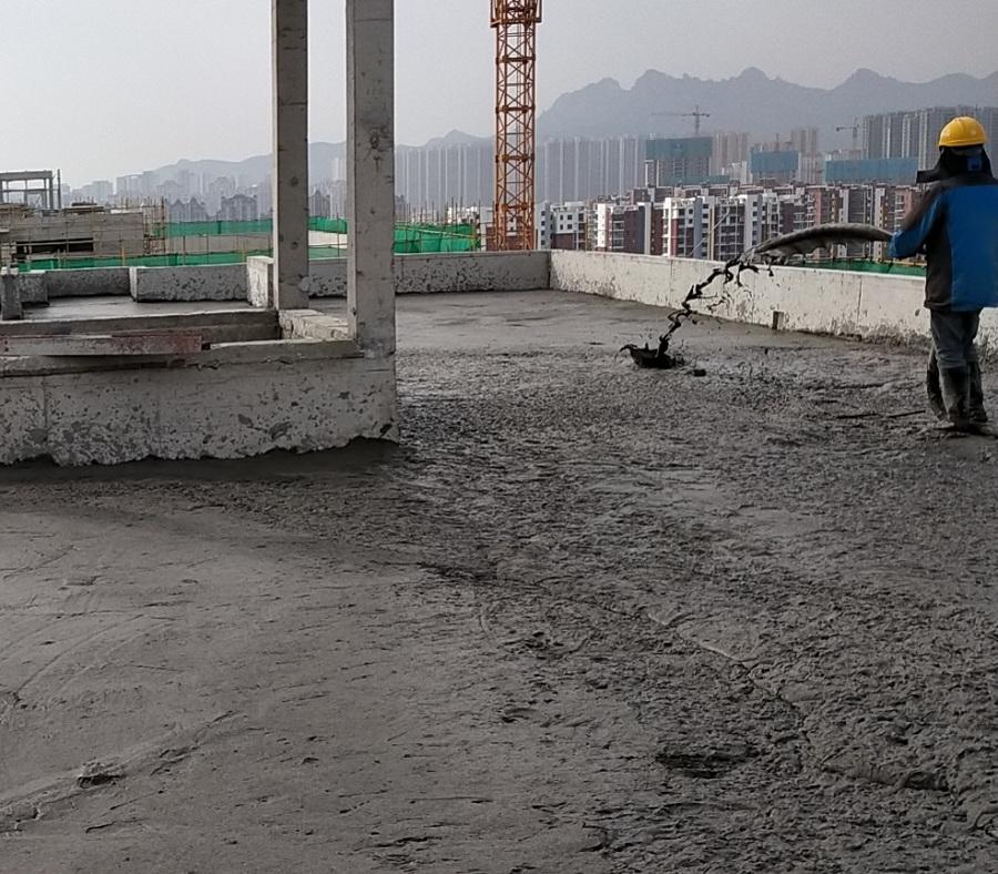 楼顶屋面 垫层找坡 发泡混凝土施工