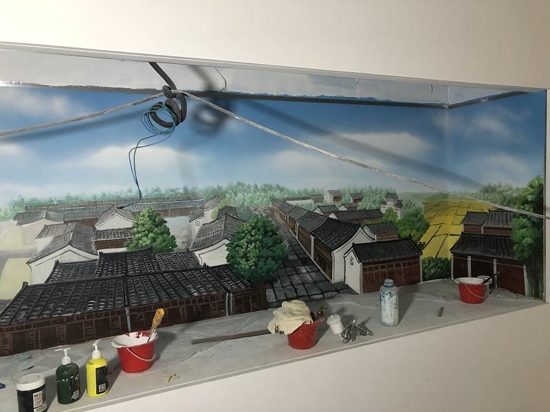 背景墙墙体彩绘 墙体手绘广告公司 免费提供彩绘方案