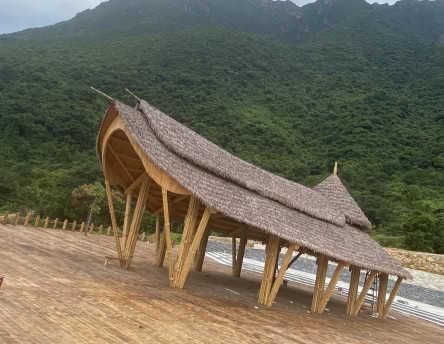 景观创意竹建筑 猎神竹 竹制品