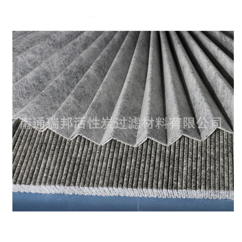 厂家销售 活性炭夹碳布地暖竹炭布过滤面料材料 夹心活性碳过滤布