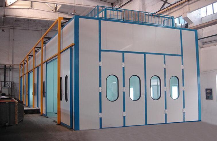 机械设备喷漆房 烤漆房涂装机械设备 移动伸缩式喷烤漆房