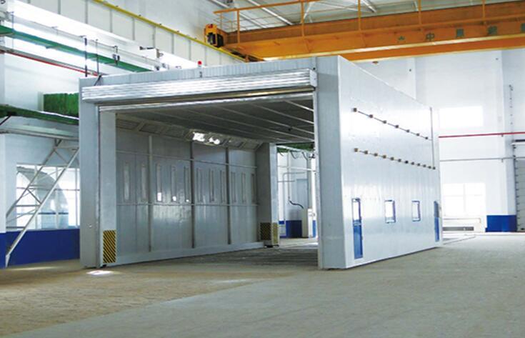 整体移动喷漆房 移动伸缩式喷漆房伸缩房 天扬专业生产厂家