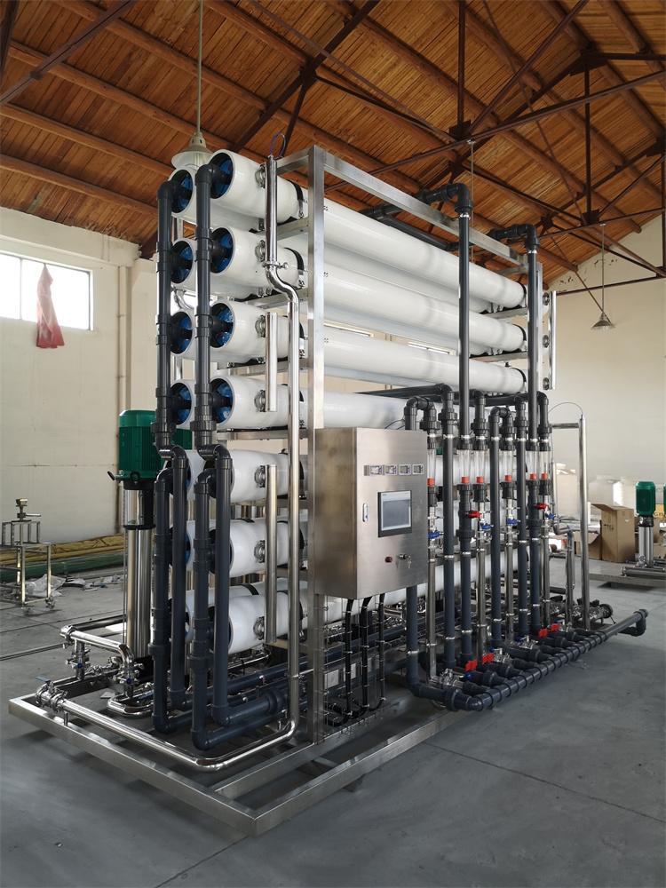 二级ro反渗透纯水装置   二级反渗透制水装置    一级反渗透和二级反渗透哪个好     双级反渗透水处理装置