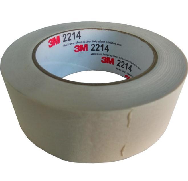3M2214美纹纸 耐高温喷漆胶带 装饰遮蔽纸胶带 无残胶