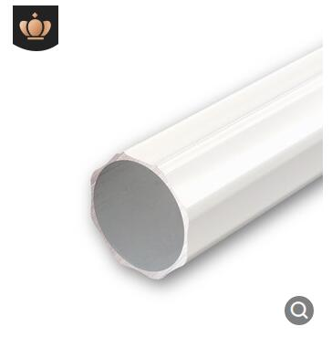 铝八角双线杆牙白加厚窗帘杆子包配件铝合金罗马杆单杆双杆道侧装