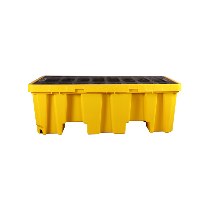 SYSBEL西斯贝尔 聚乙烯两桶盛漏托盘(加高版)SPP102H 防泄漏托盘  化学品防泄漏托盘 阻燃防泄漏托盘