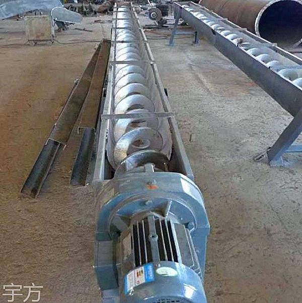 江苏厂家直销环保水处理厂输送设备无轴螺旋输送机 WLS型无轴不锈钢螺旋输送机定制