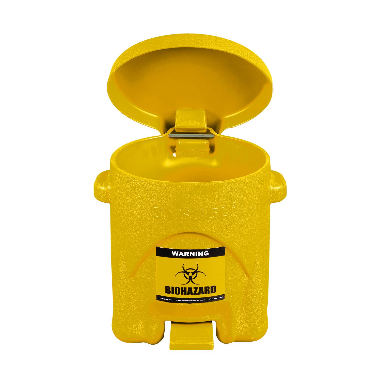 SYSBEL西斯贝尔 生化垃圾桶6Gal/22.7L WA8109200Y  医疗废物收集桶