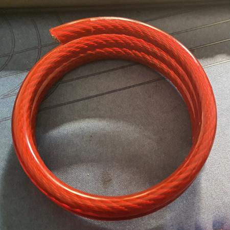 钢丝绳卷圈涂塑 包胶、PVC钢丝绳多规格