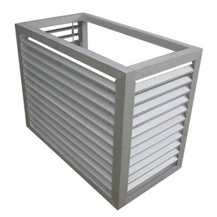 空调进气格栅 防盗门通风窗百叶窗 铝合金百叶窗空调罩安装